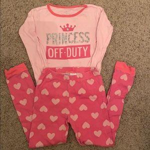 Princess Off Duty Children's Place Pajama Set